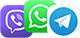 Viber, WhatsUp, Telegram